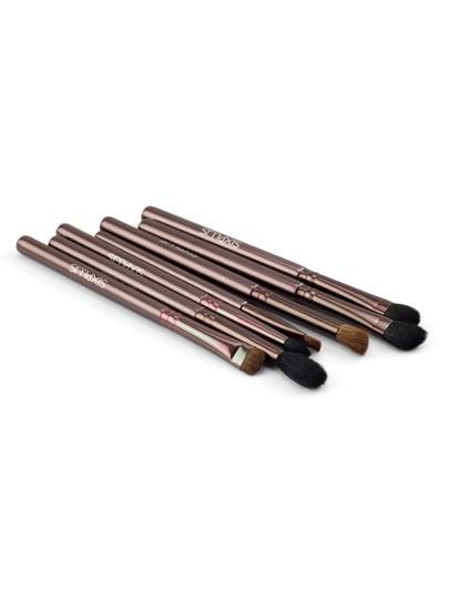 Set pennelli cosmetici metalli