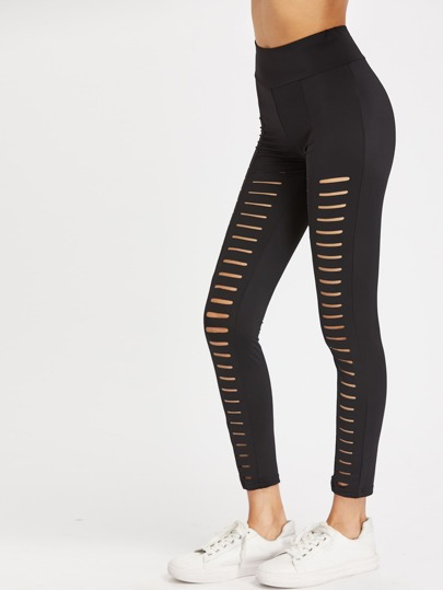 Leggings a vita alta con cut-out di scaletta