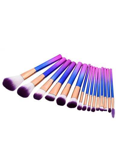 Ombre Professional Makeup Brush Set 15pcs