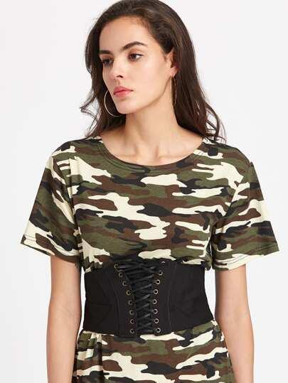 Cintura stile corsetto con laccetti