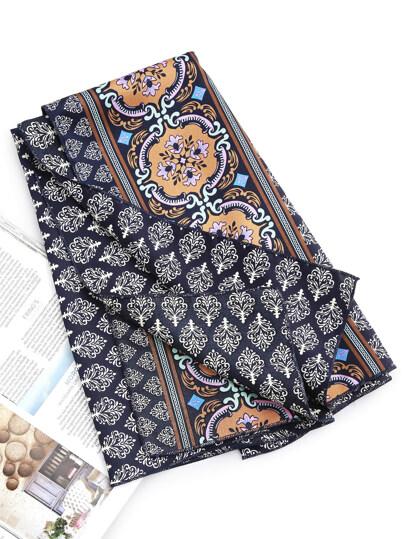 Leaf Print Satin Bandana