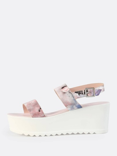 Double Band Flatform Sandal BLUSH