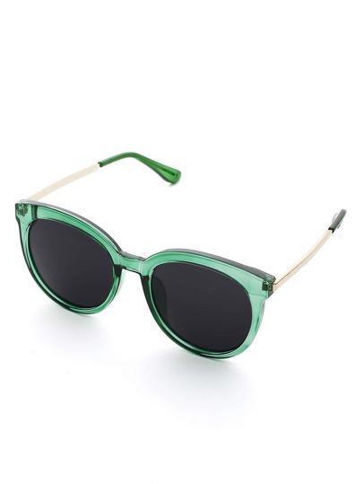 Lunettes de soleil bicolore monture de lunette