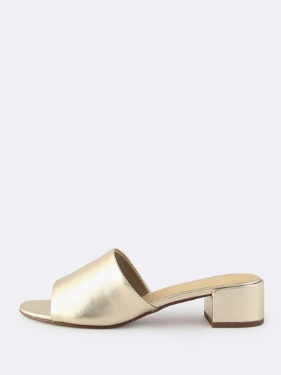 Metallic Mules GOLD