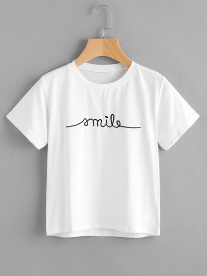 T-Shirt mit Buchstabe