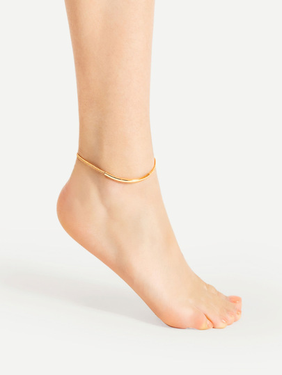 Bar Design Chain Ankle Bracelet