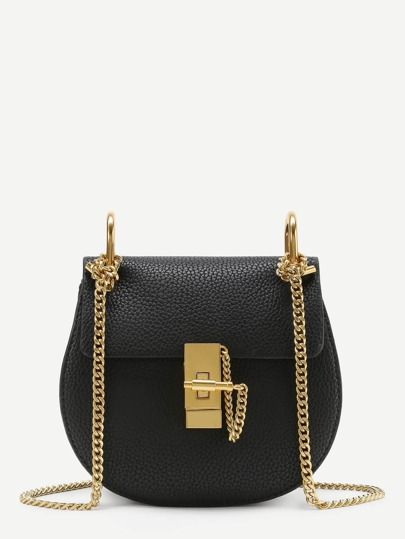 PU Saddle Chain Bag