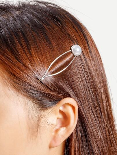 Fermaglio per capelli con abbellito di perle sintetiche