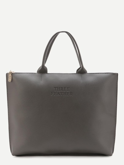 Oversized PU Plain Tote Bag