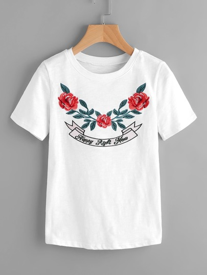 Camiseta de bordado