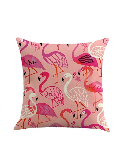 Cute Flamingo Print Pillowcase Cover