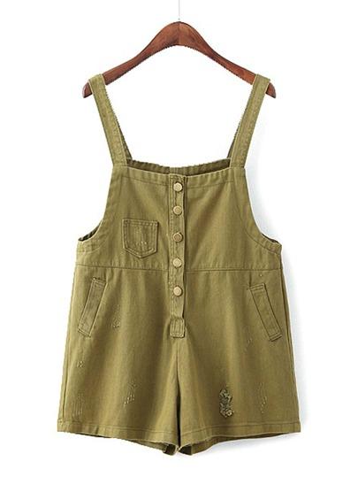 Shorts en jeans déchirable détail