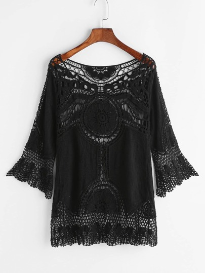 Hollow Out Crochet Embroidered Top