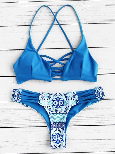 Set di bikini stampato