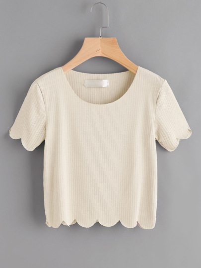 T-Shirt mit Kammmuschel