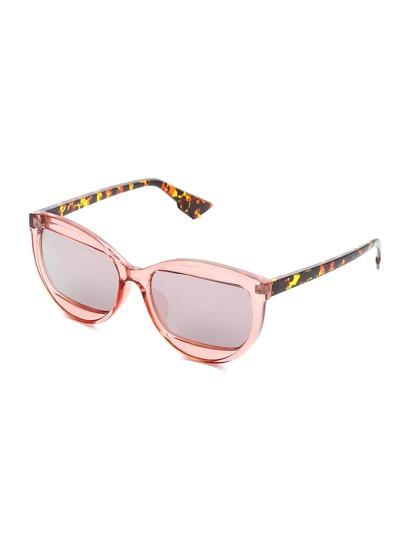 Leopard Frame Oblong Lens Sunglasses
