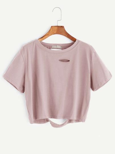 Camiseta corta y rota