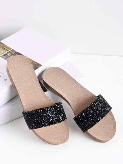 Glitter Flat Sliders