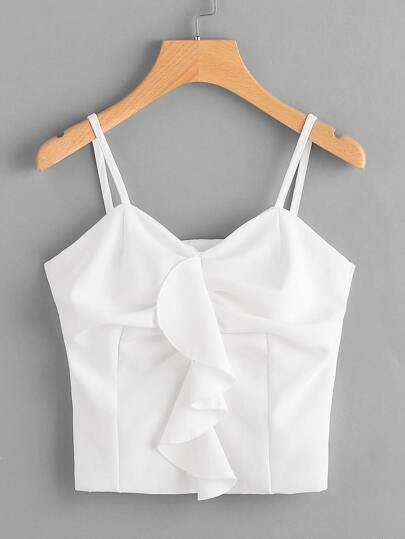 Frill Detail Crop Cami Top