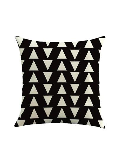Funda de almohada con estampado en dos tonos