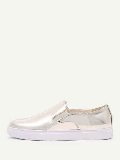Metallische PU flache Schuhe