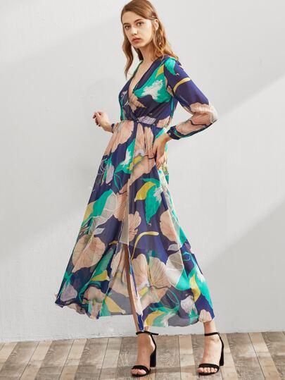 Vestido de chifón con estampado