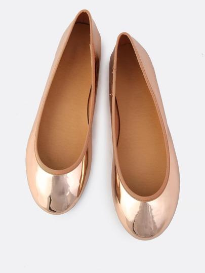 Patent Ballet Flats ROSE GOLD