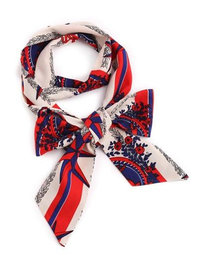 Модный шифоновый тонкий шарф с цветочным принтом
