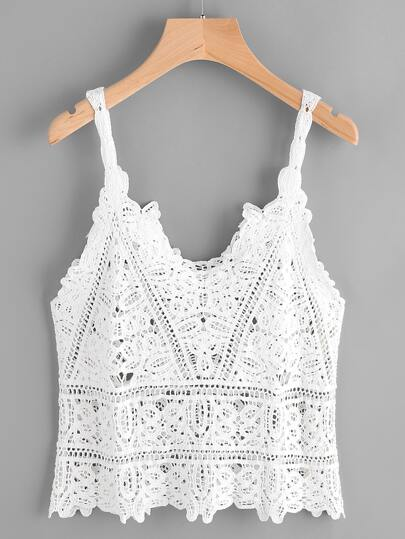 Top en crochet en dentelle