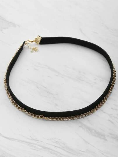 Two Tone Layered Chain Choker