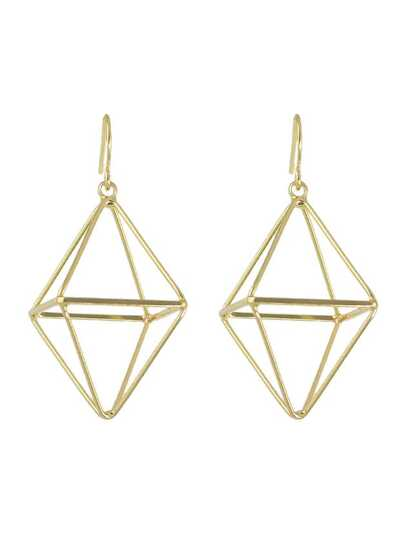 Gold  Color Punk Rock Metal Geometric Big Dangle Earrings