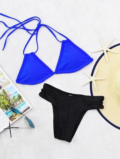 Set di bikini di due toni