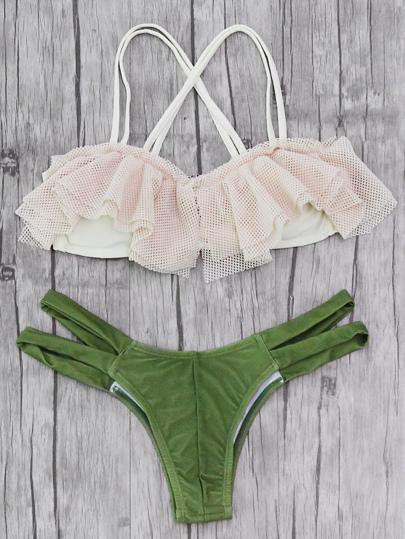 Flounce Detail Mix & Match Bikini Set