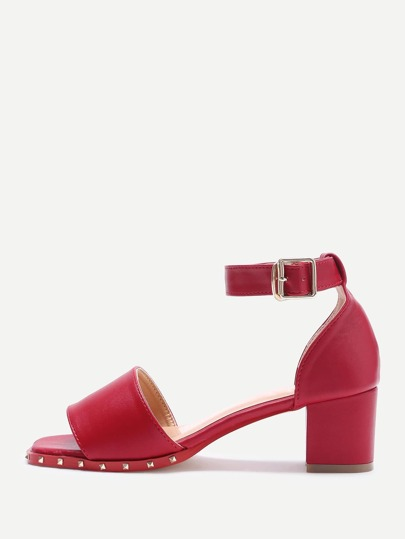 Rockstud Detail Block Heeled Sandals