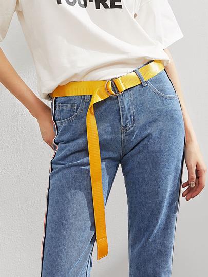 Cinturón simple con anillo en forma de D