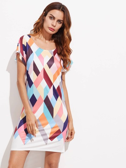 Argyle Print Tee Dress