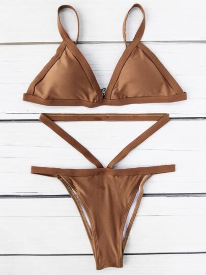 Bikini Ensemble triangle avec évidement de taille