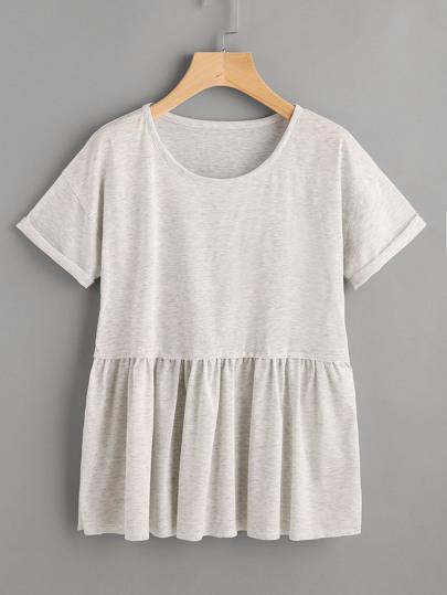 Tee-shirt avec des replis