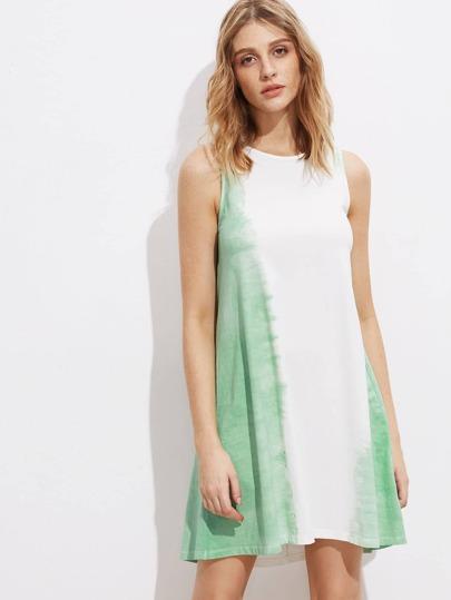 Контрастное модное платье