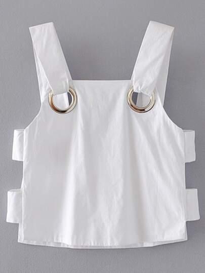 Bluse mit ausgeschnitten Seiten und Ringdetail