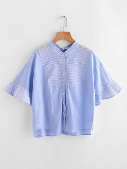 Blusa de rayas con abertura y espalda con lazo