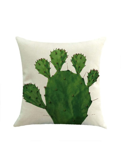 Cactus Pattern Pillowcase Cover