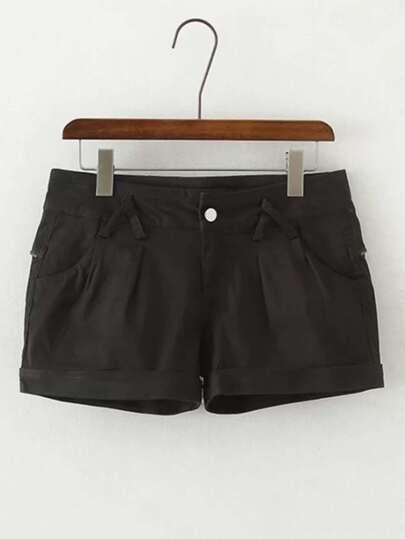 Rolled Hem Loose Shorts