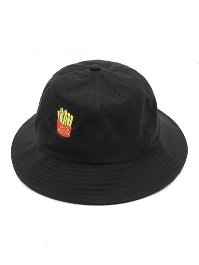 French Fries Embroidery Bucket Hat