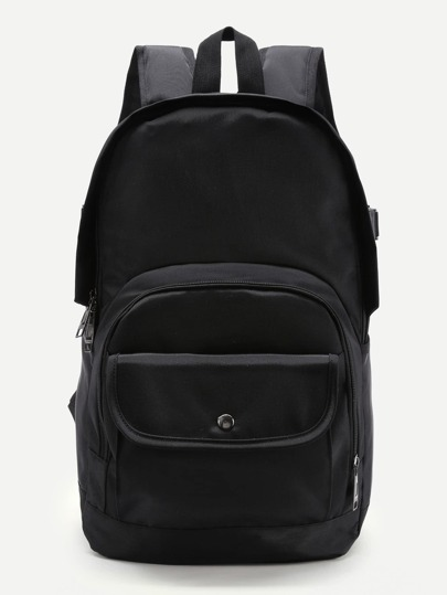 Pocket Front Double Handle Backpack