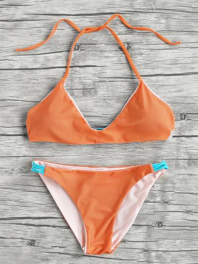Contraste Criss Cross Strap Bikini Set