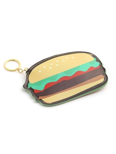 Monedero en forma de hamburguesa