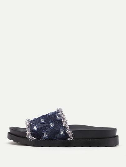 Sandales découpé en denim