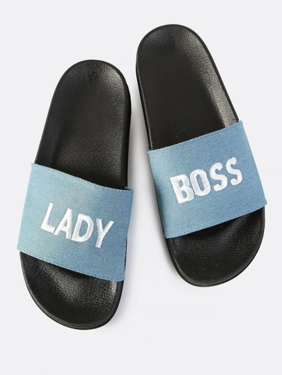 Denim Boss Lady Slides DENIM