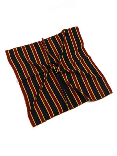 Block Striped Satin Bandana